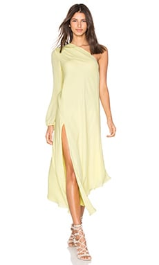 One Shoulder Caftan in Butter