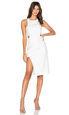 Bandeau Midi Dress en Ivory