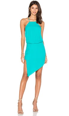 Paneled Midi Dress in Aqua