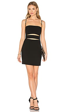Michelle Mason Bandeau Strap Dress in Black
