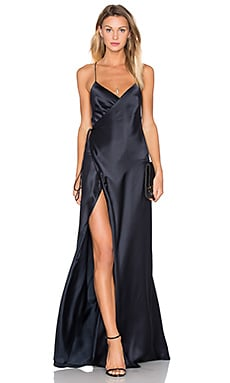 Strappy Wrap Gown in Midnight