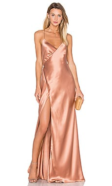 Strappy Wrap Gown in Terracotta