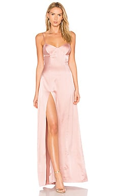 Bustier Gown in Dark Blush