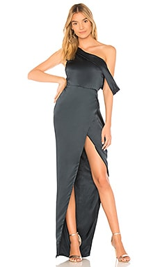 X REVOLVE Draped Shoulder Gown