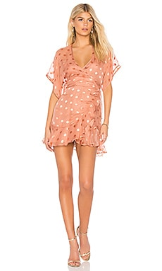 Kimono Wrap Mini Dress Michelle Mason $667