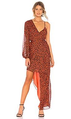 Фото - Платье - Michelle Mason оранжевого цвета