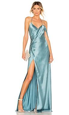 X REVOLVE Strappy Cowl Wrap Gown Michelle Mason $943