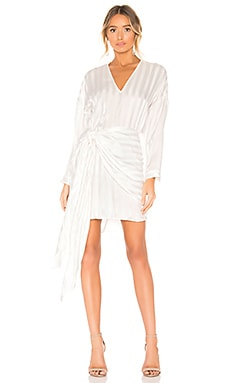 Long Sleeve Mini Wrap Dress Michelle Mason $353