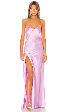 Bias Gown With Slit Michelle Mason $897