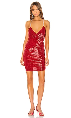 Mini Dress with Crystal Straps Michelle Mason $238