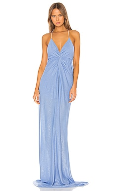 Twist Gown with Crystal Straps Michelle Mason $736