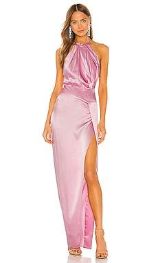 Pleat Halter Gown Michelle Mason $544