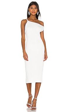 Asymmetrical Rib Dress Michelle Mason $207