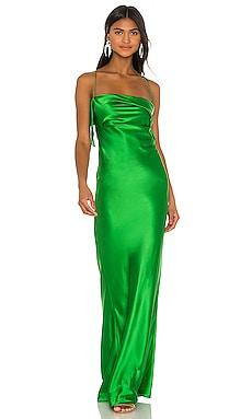Ruffle Cowl Bias Gown Michelle Mason $840 BEST SELLER