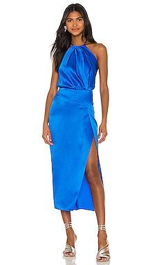 Pleat Halter Dress Michelle Mason $405