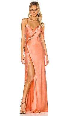 X REVOLVE Strappy Cowl Wrap Gown Michelle Mason $566
