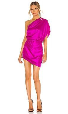 Asymmetrical Draped Mini Dress Michelle Mason $747