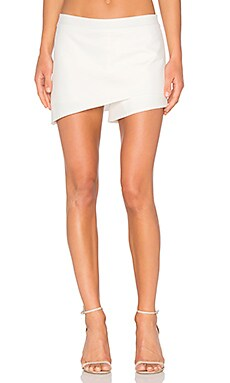 Asymmetrical Skort in Ivory
