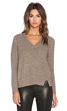 Mason by Michelle Mason V Neck Sweater in Millet