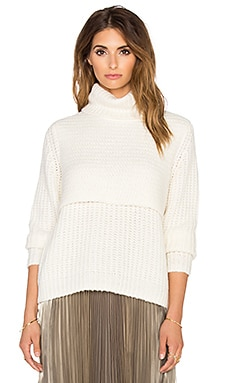 Double Layer Turtleneck in Ivory
