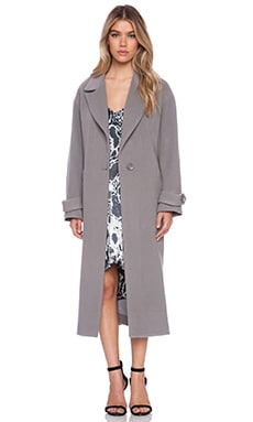 Mason by Michelle Mason Oversized Maxi Coat in Grey