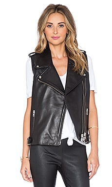 Mason by Michelle Mason Moto Vest in Black