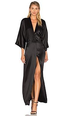 Michelle Mason Kimono Coat in Black