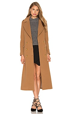 Michelle Mason Military Coat in Tan