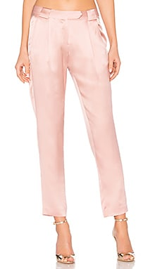 Pleat Trouser in Dark Blush