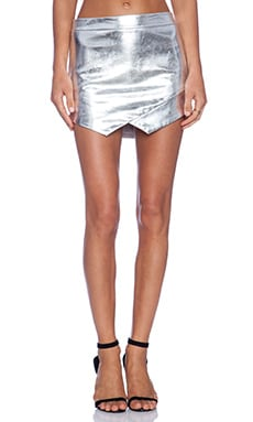 Mason by Michelle Mason Mini Skirt in Silver