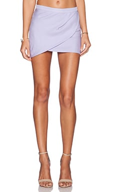 Mason by Michelle Mason Drape Mini Skirt in Lilac