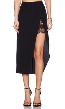 Mason by Michelle Mason Wrap Skirt in Black