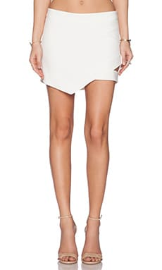Mason by Michelle Mason Cut Out Mini Skirt in Ivory