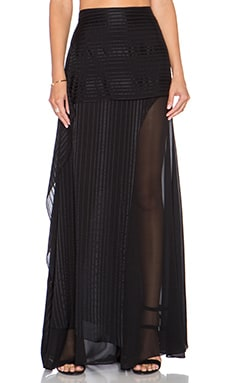 Mason by Michelle Mason Maxi Skirt with Sheer Underlay in Black