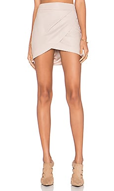 Mason by Michelle Mason Wrap Mini Skirt in Petal