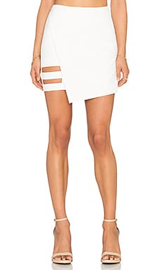 Mason by Michelle Mason Mini Skirt in Ivory
