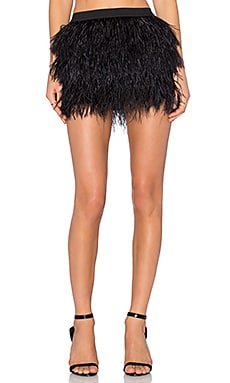 Mason by Michelle Mason Feather Mini Skirt in Black