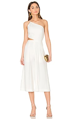 Asymmetrical Bandeau Jumpsuit in Ivory
