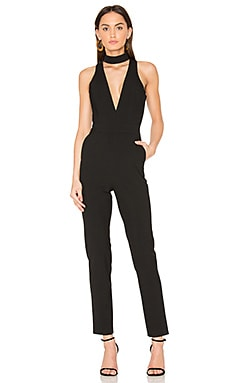 Choker Plunge Jumpsuit in Black