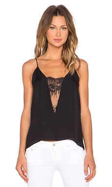 Mason by Michelle Mason Lace Inset Cami in Black
