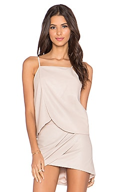 Mason by Michelle Mason Wrap Halter Cami in Petal