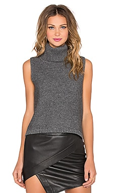 Mason by Michelle Mason Turtleneck Tank in Grey