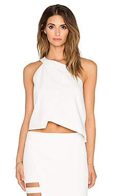 Mason by Michelle Mason One Shoulder Top in Ivory