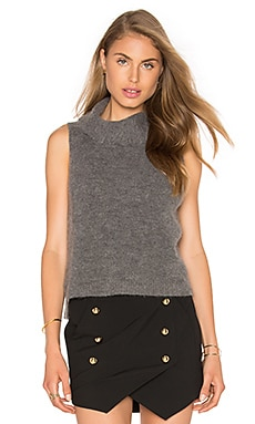 Michelle Mason Turtleneck Tank in Grey