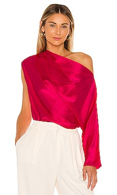 One Sleeve Draped Top Michelle Mason $391