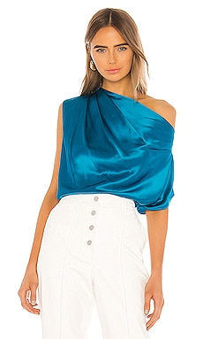 Asymmetrical Drape Top Michelle Mason $380