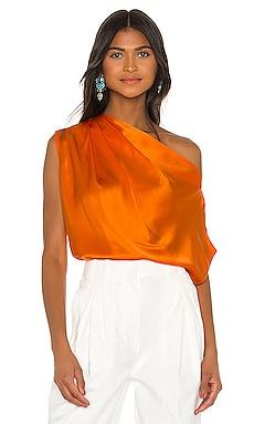 x REVOLVE Asymmetrical Drape Top Michelle Mason $380 NOVEDADES