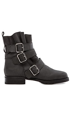 Matiko Charlie Moto Boot in Black Leather