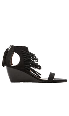 Bryn Wedge Sandal in Black