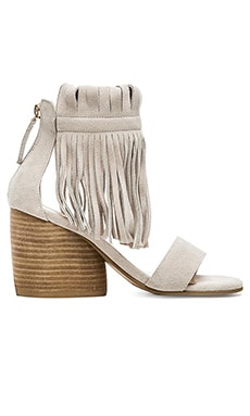 Matiko Morgan Fringe Sandal in White